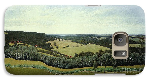 Galaxy Case featuring the painting Sussex England - Landscape In Oils by Gillian Owen