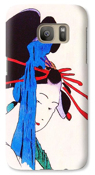 Galaxy Case featuring the painting Sutekina Geisha Ni by Roberto Prusso