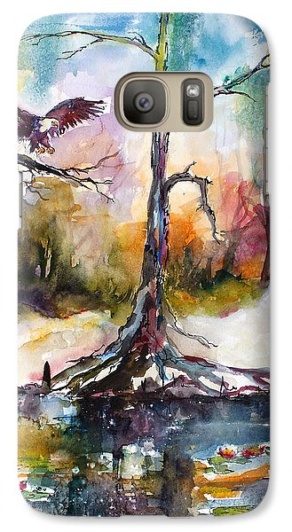 Galaxy Case featuring the painting Suwanee River Black Water Eagle Landing by Ginette Callaway