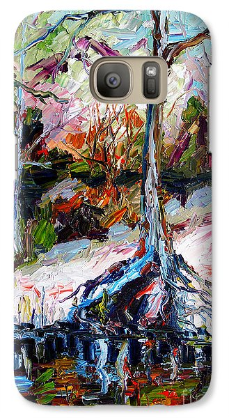 Galaxy Case featuring the painting Suwanee River Black Waters Modern Art by Ginette Callaway