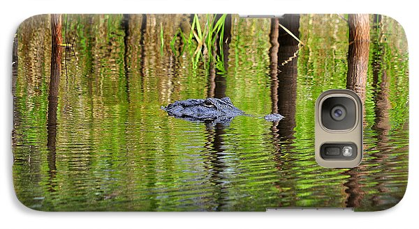 Galaxy Case featuring the photograph Swamp Stalker by Al Powell Photography USA