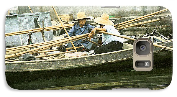 Galaxy Case featuring the photograph Suzhou Market  by R Thomas Berner