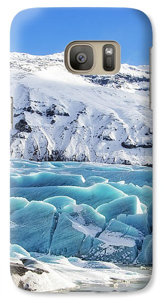 Galaxy Case featuring the photograph Svinafellsjokull Glacier Iceland by Matthias Hauser