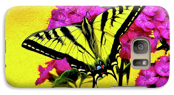 Galaxy Case featuring the digital art Swallow Tail Feeding by James Steele