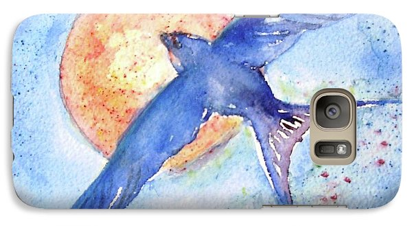 Galaxy Case featuring the painting Swallows Return  by Trudi Doyle