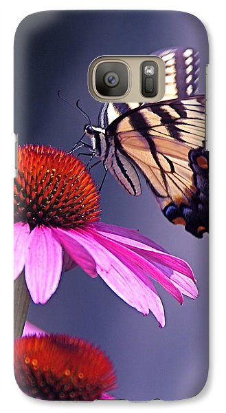 Galaxy Case featuring the photograph Swallowtail And Coneflower by Byron Varvarigos