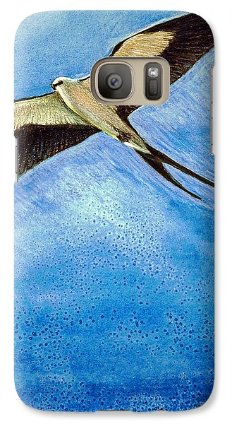 Galaxy Case featuring the mixed media Swallowtail Sighting by Suzanne McKee
