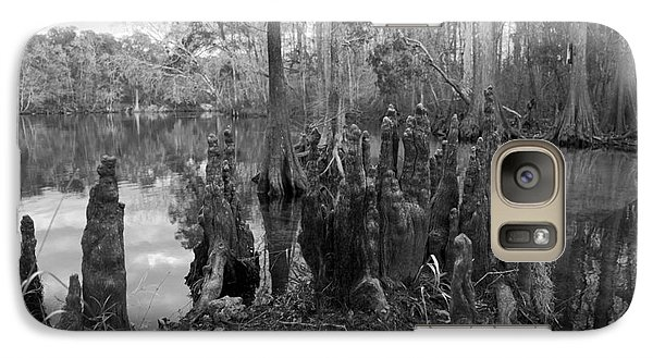 Galaxy Case featuring the photograph Swamp Stump by Blake Yeager