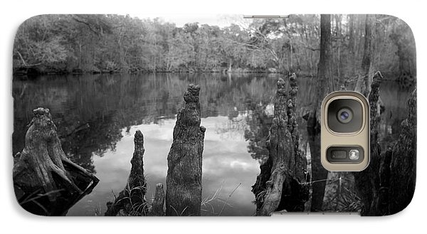 Galaxy Case featuring the photograph Swamp Stump II by Blake Yeager