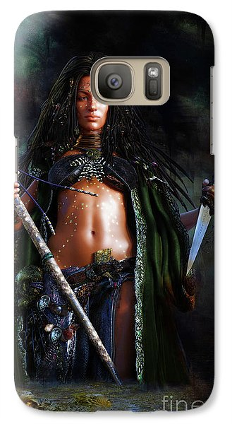 Galaxy Case featuring the digital art Swamp Witch by Shanina Conway
