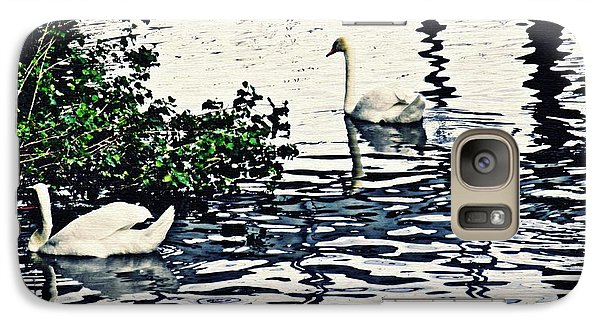Galaxy Case featuring the photograph Swan Family On The Rhine 3 by Sarah Loft