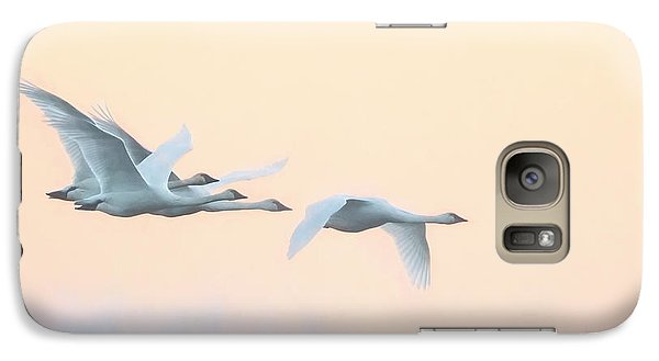 Galaxy Case featuring the photograph Swan Migration  by Kelly Marquardt