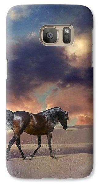 Galaxy Case featuring the digital art Swan Of Desert by Dorota Kudyba