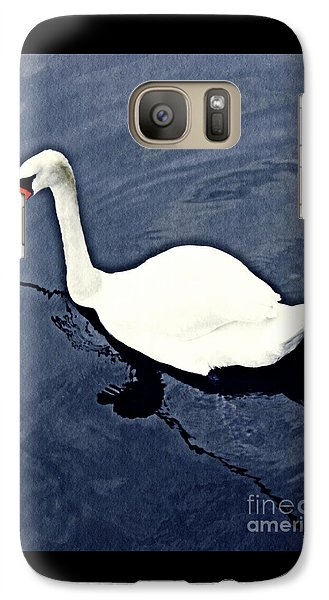 Galaxy Case featuring the photograph Swan On The Rhine by Sarah Loft