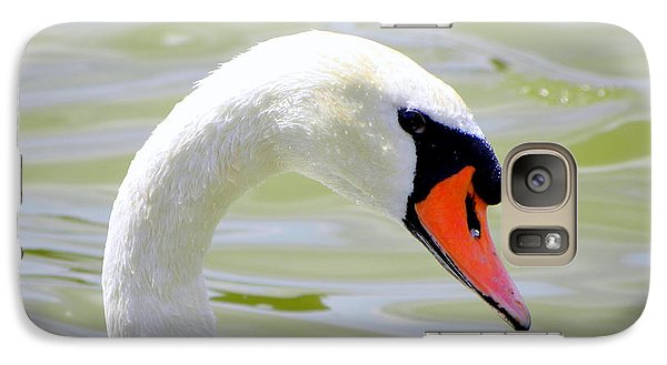 Galaxy Case featuring the photograph Swan Profile by Terri Mills