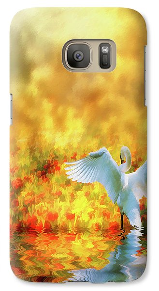 Galaxy Case featuring the photograph Swan Song At Sunset Thanks For The Good Day Lord by Diane Schuster