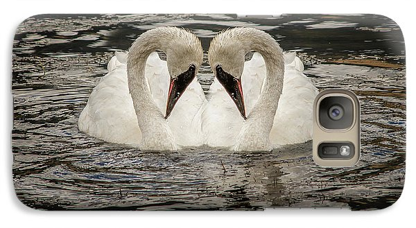 Galaxy Case featuring the photograph Swan Times Two by Mary Hone