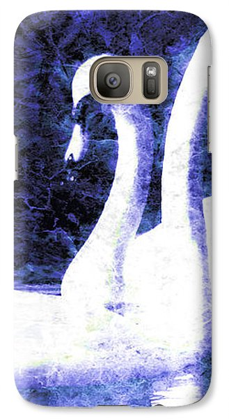 Galaxy Case featuring the digital art Swans On Water  by Fine Art By Andrew David