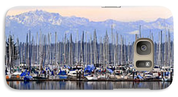 Galaxy Case featuring the photograph Swantown Marina Olympia Wa by Larry Keahey
