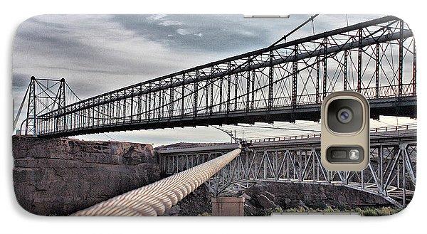 Galaxy Case featuring the photograph Swayback Suspension Bridge by Farol Tomson
