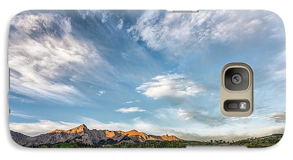 Galaxy Case featuring the photograph Sweeping Clouds by Jon Glaser