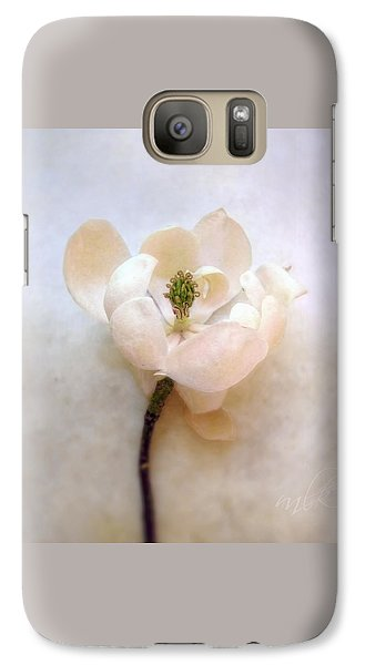 Galaxy Case featuring the photograph Sweet Bay Magnolia Bloom by Louise Kumpf
