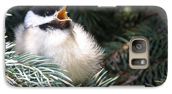 Galaxy Case featuring the photograph Sweet Chickadee by Angie Rea