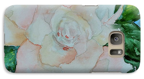 Galaxy Case featuring the painting Sweet Gardenia by Beverley Harper Tinsley