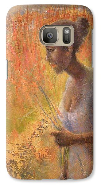 Galaxy Case featuring the painting Sweet Grass by Gertrude Palmer