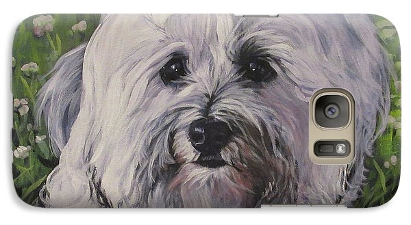 Galaxy Case featuring the painting Sweet Havanese Dog by Lee Ann Shepard