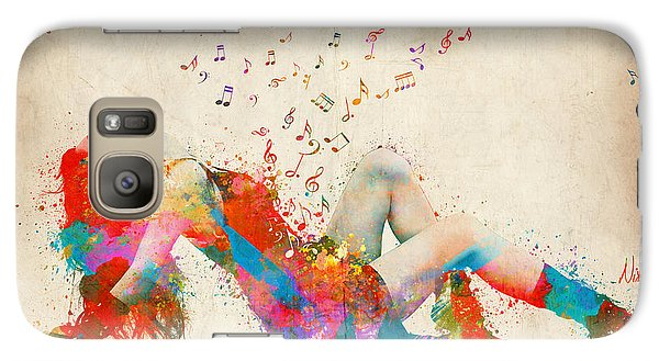 Rock And Roll Galaxy S7 Case - Sweet Jenny Bursting With Music by Nikki Smith