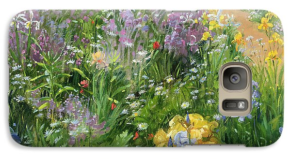 Garden Galaxy S7 Case - Sweet Rocket - Foxgloves And Irises by Timothy Easton