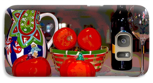 Galaxy Case featuring the mixed media Sweet Tomatoes by Charles Shoup