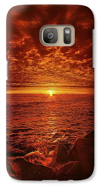 Galaxy Case featuring the photograph Swiftly Flow The Days by Phil Koch