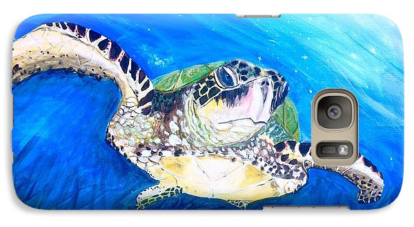 Galaxy Case featuring the painting Swim by Dawn Harrell