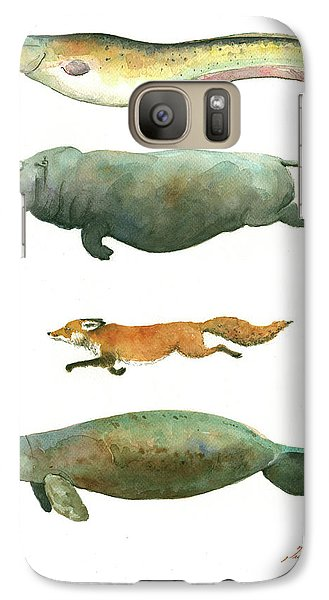 Catfish Galaxy S7 Case - Swimming Animals by Juan Bosco