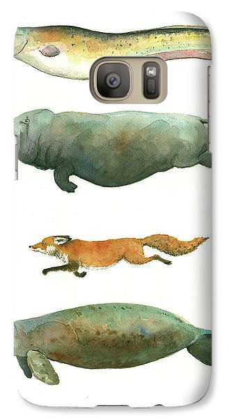 Swimming Animals Galaxy S7 Case by Juan Bosco
