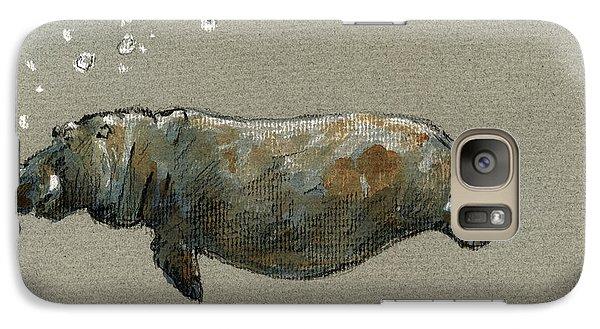 Swimming Hippo Galaxy S7 Case