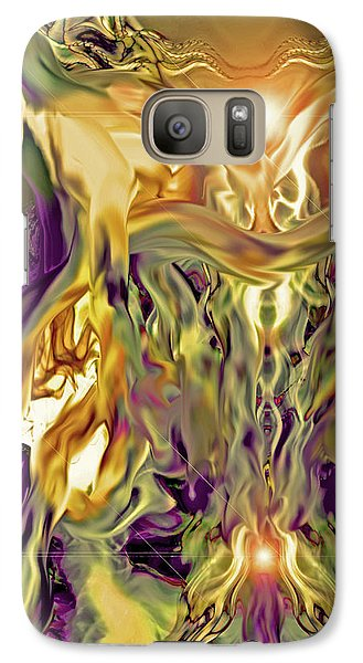 Galaxy Case featuring the digital art Swimming Horses by Linda Sannuti