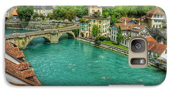 Galaxy Case featuring the photograph Swimming The River Aare , Bern  by Connie Handscomb