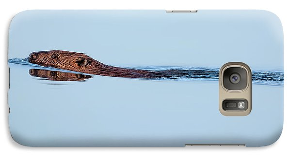 Swimming With The Beaver Galaxy S7 Case by Bill Wakeley