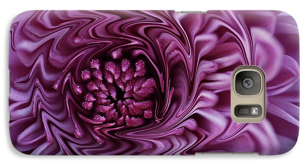 Galaxy Case featuring the photograph Purple Mum Abstract by Glenn Gordon