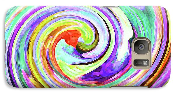 Galaxy Case featuring the photograph Swirling Leaves 2 by Margaret Saheed