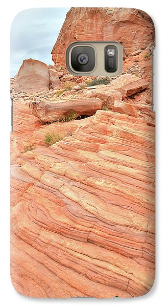 Galaxy Case featuring the photograph Swirling Sandstone Color In Valley Of Fire by Ray Mathis