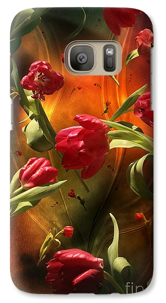 Galaxy Case featuring the digital art Swirling Tulips by Johnny Hildingsson