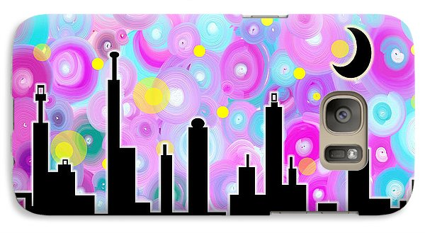 Galaxy Case featuring the painting Swirly Metropolis by Shawna Rowe