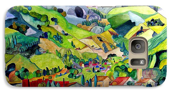 Galaxy Case featuring the painting Switzerland by Patricia Arroyo