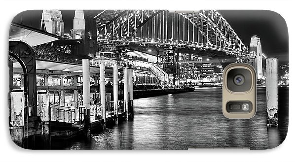 Sydney Harbour Bridge Black And White By Kaye Menner Galaxy S7 Case by Kaye Menner