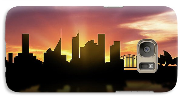 Sydney Skyline Sunset Ausy22 Galaxy S7 Case