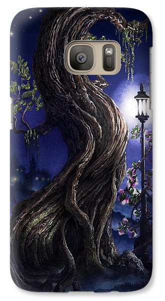Galaxy Case featuring the painting Sylvia And Her Lamp At Dusk by Curtiss Shaffer